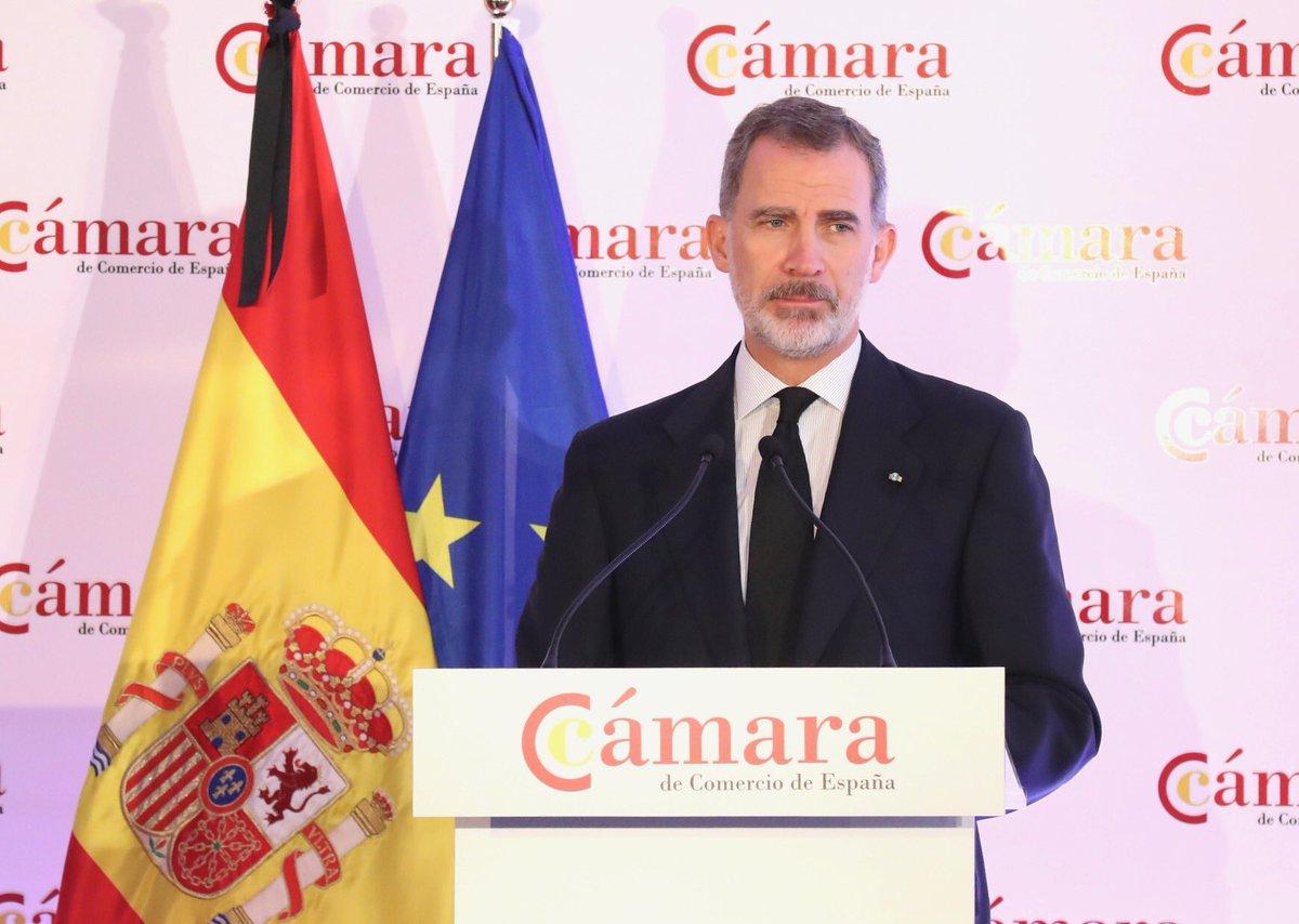 Palabras del Rey en el Pleno Extraordinario de @camarascomercio casareal.es/ES/Actividades…