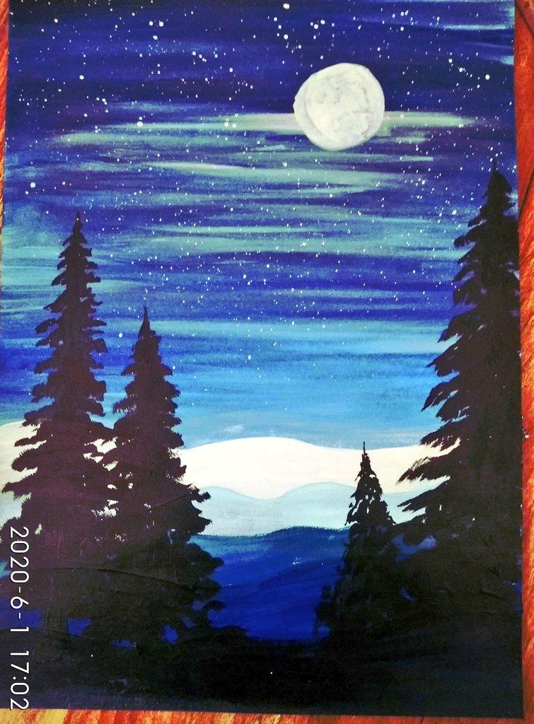 Day 1 acrylic painting #acrylicpainting #painting  #artvsartists2020 #Artist #Artworkspic.twitter.com/7JaXr0b6SC