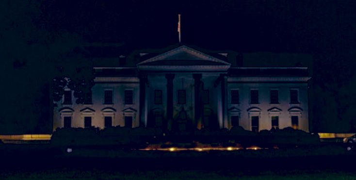 This is what #MAGANIGHT at the White House looks like... #BunkerTrump #CowardinChief