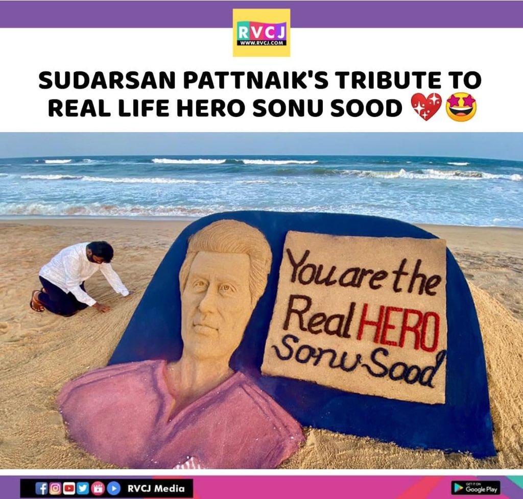 Sand art of @SonuSood  #SonuSood #SandArt #MigrantLabourers #Bollywood #rvcjmovies pic.twitter.com/0Six9yizmH