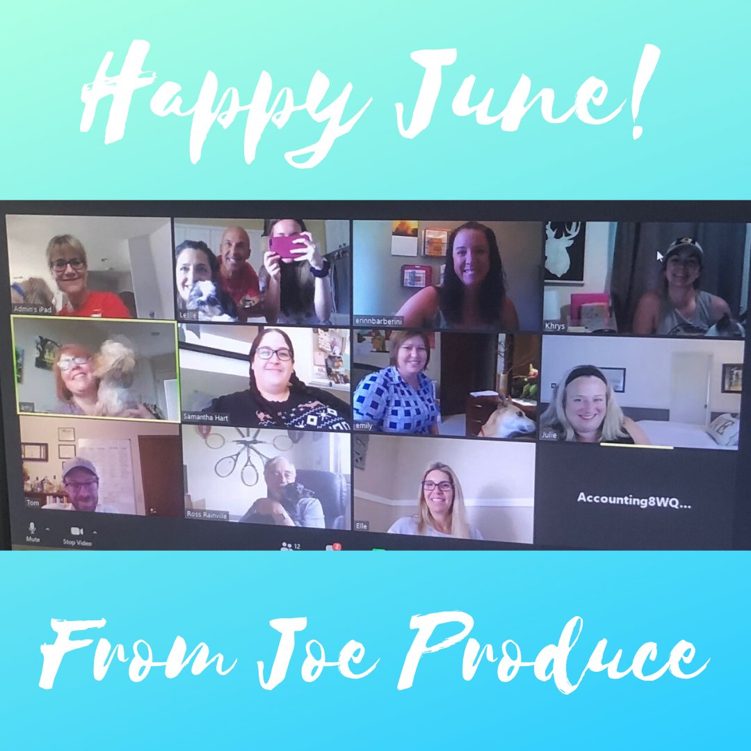 It's already June!  Summer may not have officially started yet but the warm weather has shown up where we are and it's definitely feeling like summer around here! #joeproduce #teamwork #workingfromhome #workfromhomelife #socialdistancing #joeforit #workworkwork #summerpic.twitter.com/NDQvHkBSew