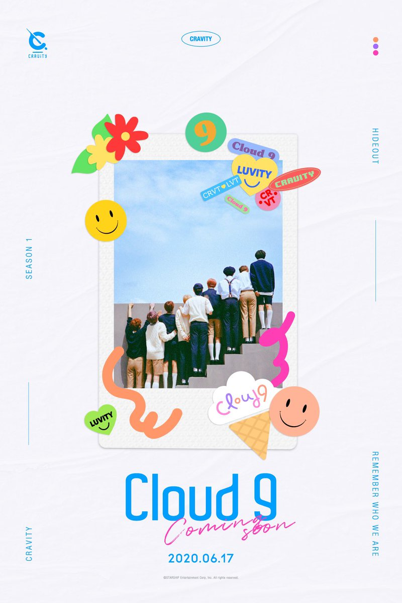 We Singing like CRAVITY Cloud 9☁ ⠀ 2020.06.17 COMING SOON ⠀ #CRAVITY #크래비티 #HIDEOUT #REMEMBER_WHO_WE_ARE #Cloud9