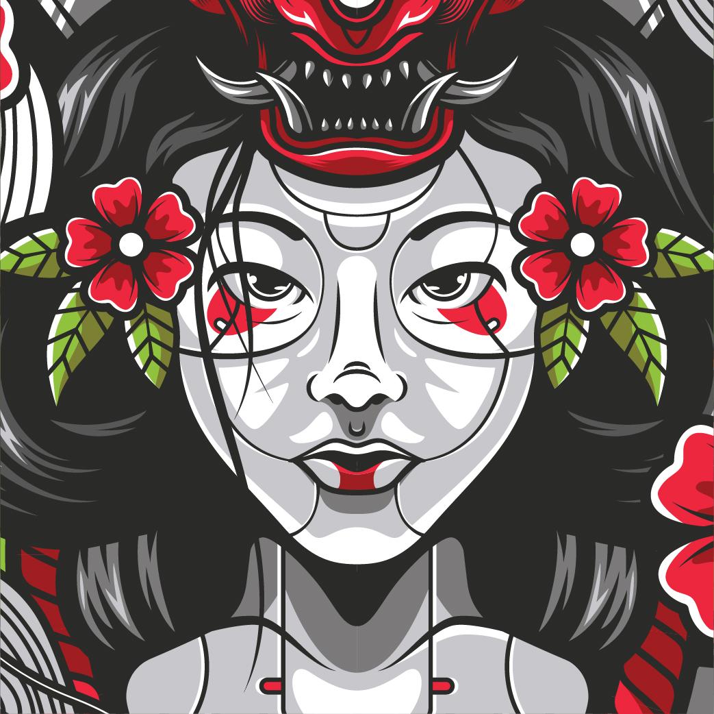 Geisha illustration Available for sale  #vector #illustration #apparel #merchandise #designforsale #geisha #clothing #clothinglinepic.twitter.com/sHLo8UJ2bi