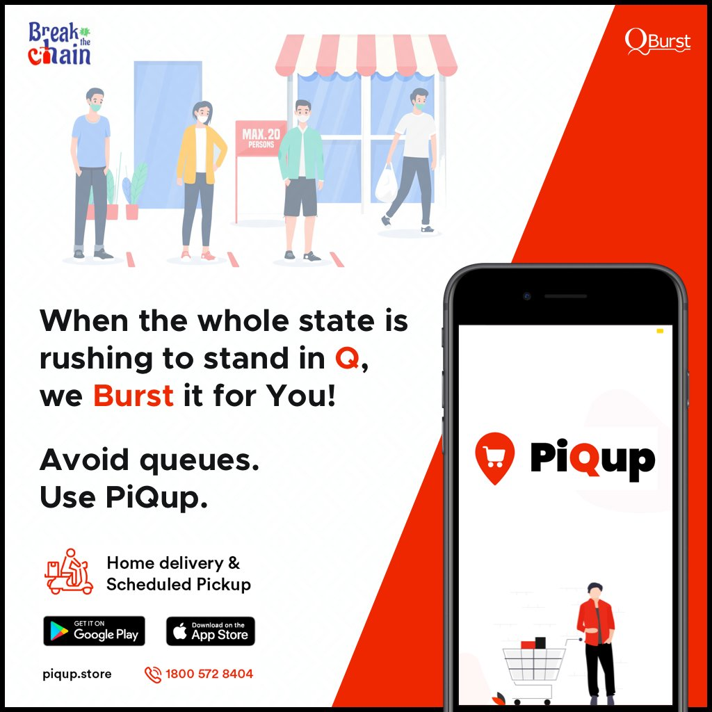 Keralites, kindly avoid queues and use #PiQup for #GroceryShopping.   Download the app and place your order now.  Apple store: https://apple.co/3bBwPNg  Play store: https://bit.ly/3bM4pR3  Website: https://piqup.store/   #onlinegrocery #orderonline #kerala #trivandrum #kochi pic.twitter.com/V4kUztx6pl