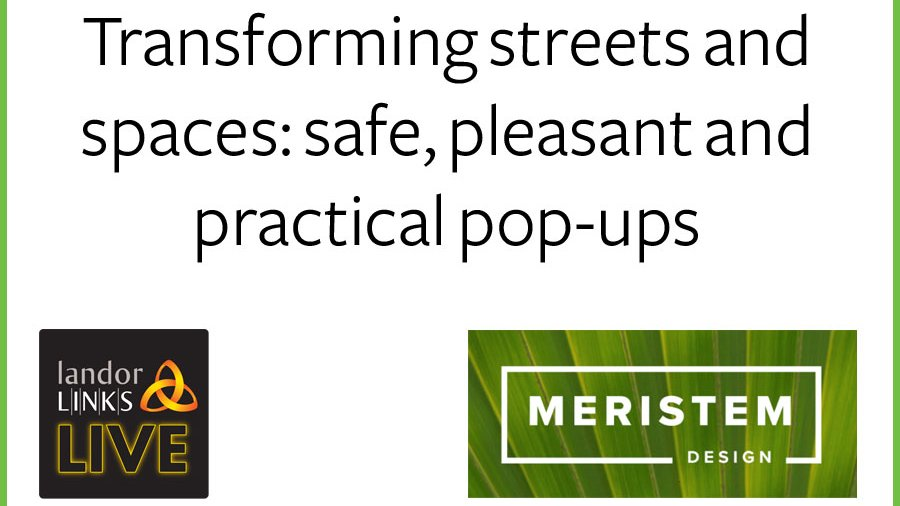 Join us on Thursday 4th June as we discuss how we can transform streets and spaces with safe, pleasant and practical pop - ups - Register to attend this one hour webinar here: bit.ly/3gKlsFG
