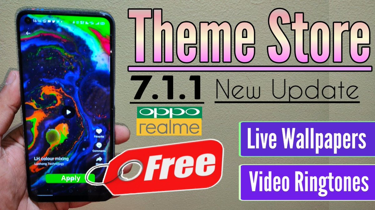 Theme Store 7.1.1 For Realme & Oppo https://youtu.be/zKP3vcqPst0 pic.twitter.com/BBnHYEzRem
