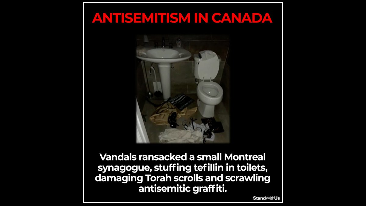 Horrific incident in Canada. Vandals ransacked a small Montreal synagogue in what has been described as one of the worst local synagogue desecrations in memory. #antisemitism