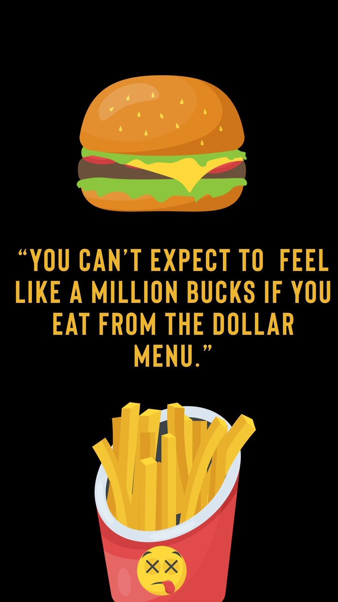 """The """"dollar menu"""" sounds like a good value but not if you pay later with higher #health care costs. Spend a few more dollars on lunch & save money in the long run! You'll feel better too. :-) pic.twitter.com/qAFC0vatmT"""