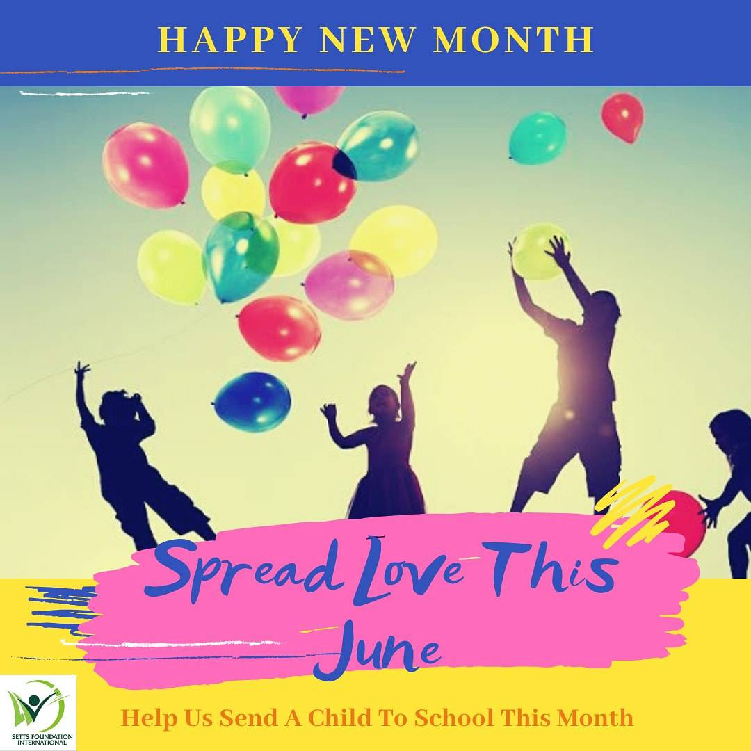 Happy New Month   Welcome to the Wonderful June.   It's 6 months already!!  You can make it a personal goal to send a child to school for the remaining parts of this year.   Let's spread the love this June Let's secure a child's future.   #happyjune  #education pic.twitter.com/19pmZoct9p