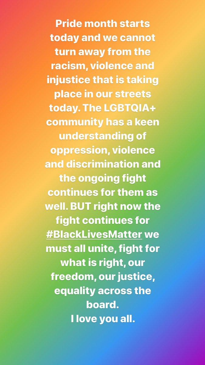 #BlackLivesMatter Happy Pride guys 🌈