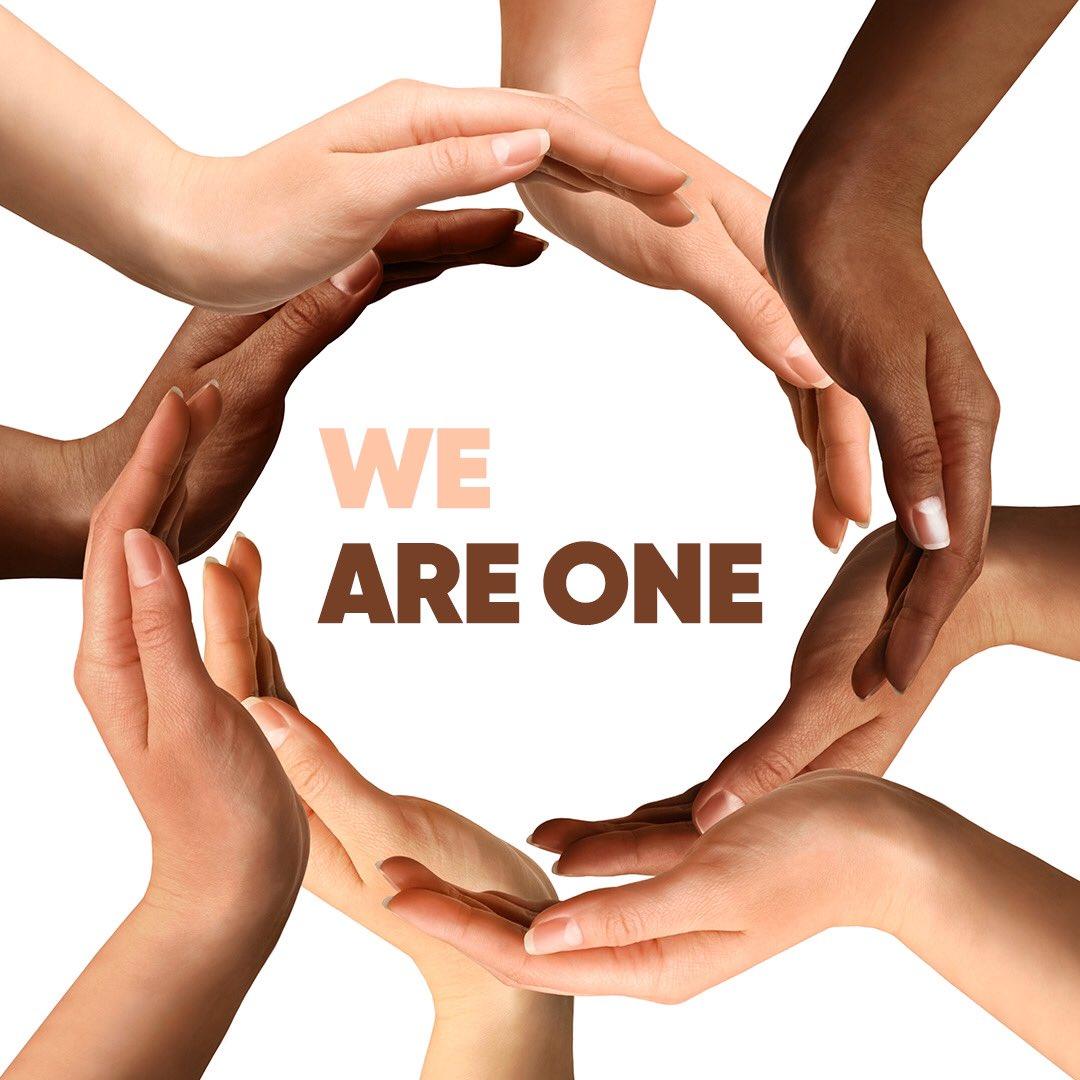 Bulunduğumuz 80'in üzerinde ülkede din, dil ve ırk gözetmeksizin varız... Çünkü hepimiz bir'iz... #BlackLivesMatter #HepimizBiriz https://t.co/FrB5tpqH88