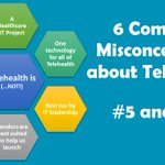 Image for the Tweet beginning: 🔹 Common Telehealth Misconception #5: