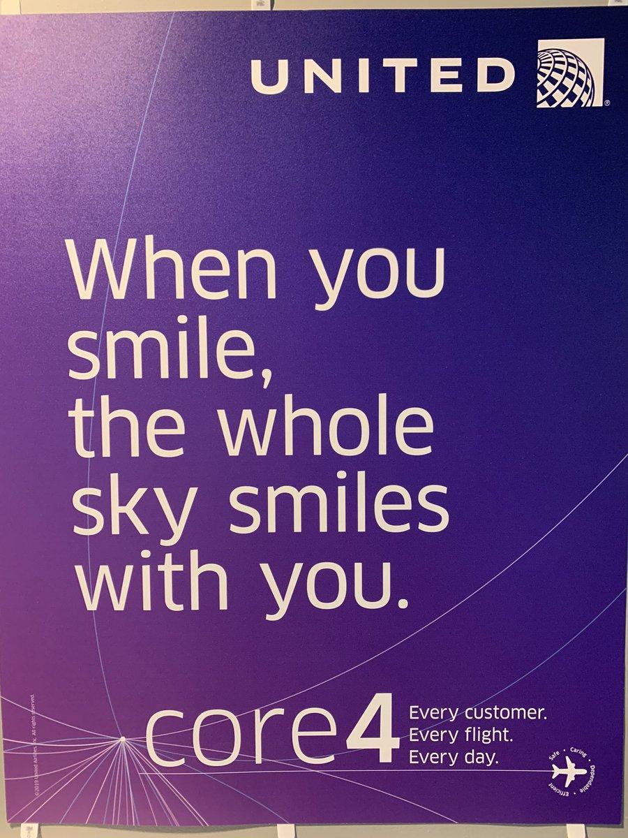 I promise it's there!  Under my mask!  #UnitedTogether #MondayMotivation  pic.twitter.com/w9le4V8CEz – at Denver International Airport (DEN)