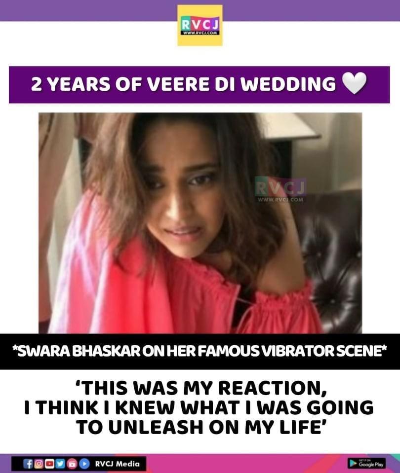 2 Years of Veere Di Wedding! @ReallySwara  #SwaraBhasker #Bollywood #rvcjmovies pic.twitter.com/u3OqcrqGJk