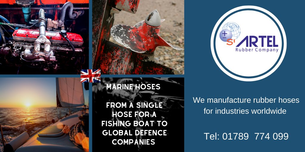 We can supply marine grade silicone hoses that do not weaken overtime. Our re-enforced hoses are ozone resistant and non-conductive. Enabling us to be the market leader off shore.  https://artelrubber.co.uk/sector/marine/  Tel: +44 (0) 1789 774 099 E-mail: sales@artelrubber.co.uk  #marine #boat pic.twitter.com/1ljqSQ6ObD