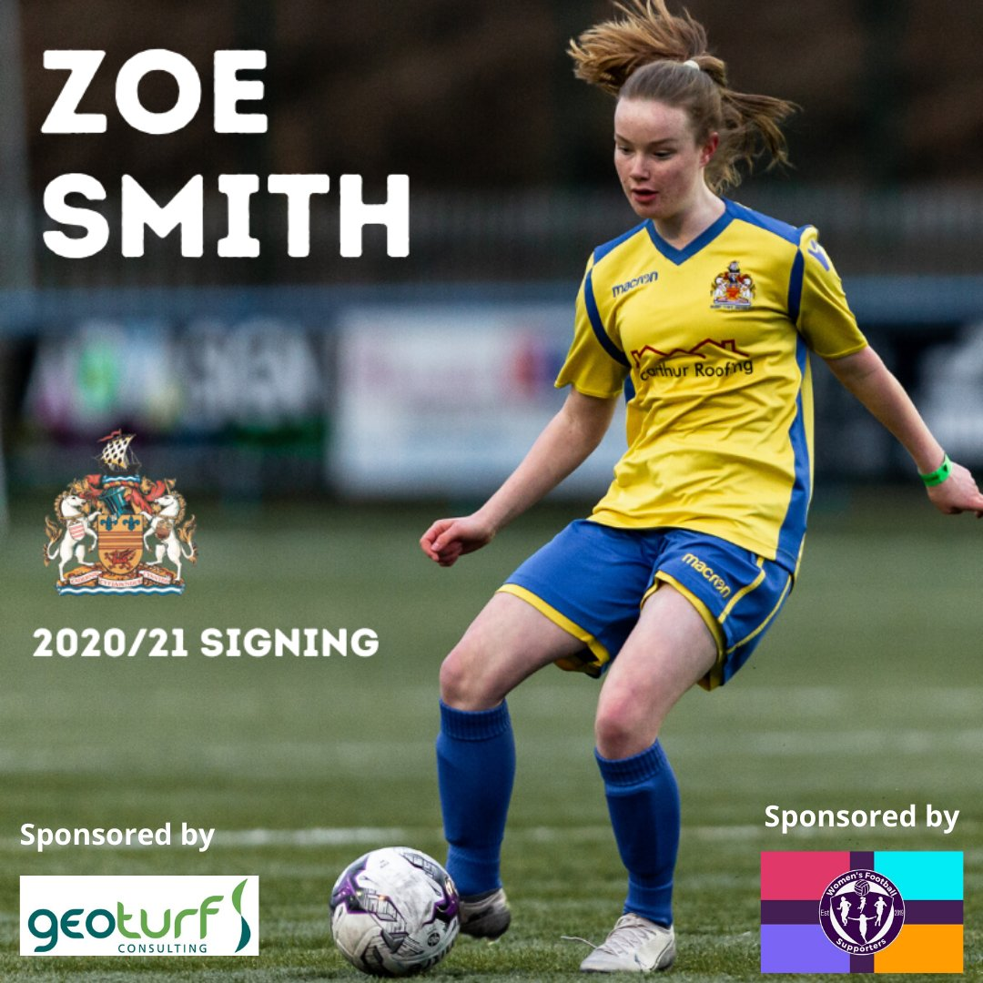 2020-21 NEW ARRIVAL  We are delighted to have a number of our junior players stepping into senior football for the new season.   The first new addition into the first team squad is current Wales U17 international, Zoe Smith sponsored by @GEOTurfConsult & @WomensFootbal15. https://t.co/xC6jQs5kAF