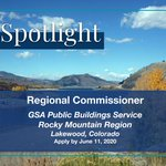 Interested in managing the operations, maintenance, & construction of Federal buildings? If so, GSA's Public Building Service has just announced the Regional Commissioner position for the Rocky Mountain Region. Learn more and apply by 6/11 at @USAJobs: https://t.co/bVMLinupV7