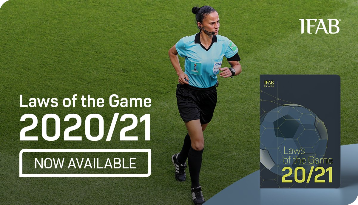 NOW AVAILABLE: the 2020/21 edition of the Laws of the Game ⚽️ ➡️ DOWNLOAD in English, Español, Français, Deutsch: bit.ly/Laws2020_21