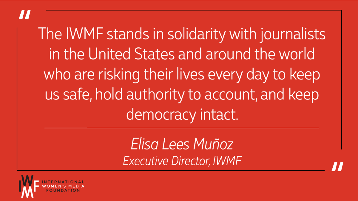 Journalists must be able to do their jobs safely and freely. Women #journalists: if you need support, reach out – we are here for you. Our statement condemning recent attacks against journos during #GeorgeFloyd protests: https://t.co/vOzcB1ukQe https://t.co/4KLLgQdAUE