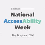 Image for the Tweet beginning: It's #NationalAccessAbilityWeek!   This week, and