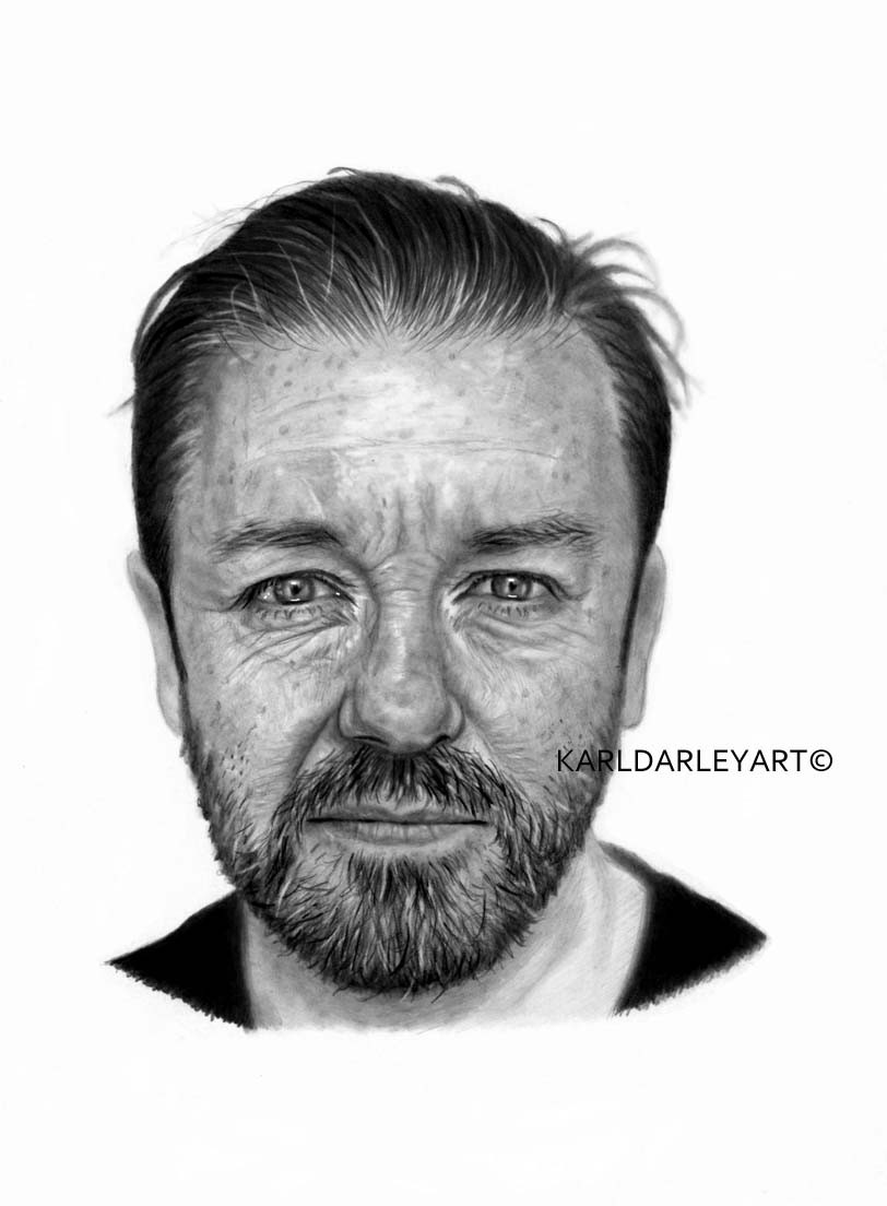 just finished my drawing of @rickygervais. A4, pencil on bristol board #RickyGervais #afterlife #netflixpic.twitter.com/FGpojx7l0y
