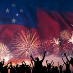 Image for the Tweet beginning: Samoa's National Day, Independence Day,