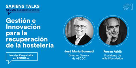 """Mañana hablaré con @JM_Bonmati sobre Sapiens y la gestión e innovación en las empresas, en la primera charla del ciclo """"Sapiens Talks"""" organizado por @AECOC_ES. ¡No te lo pierdas!"""". Inscripciones gratuitas en https://t.co/9lKxCFV4Tp https://t.co/0jcwcy1oLn"""