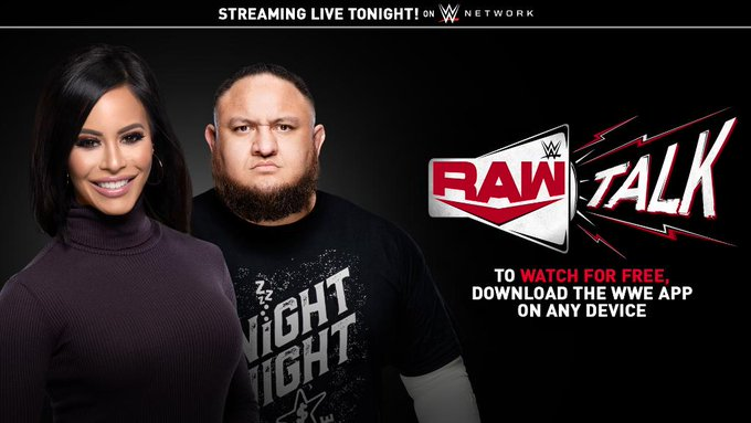 WWE RAW Talk Returning Tonight, Charly Caruso and Samoa Joe to Host The Show