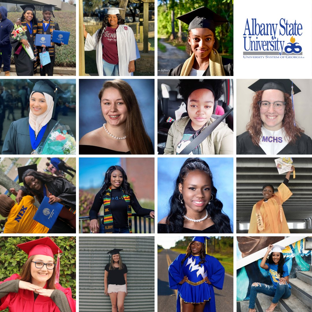 Congratulations to the #AlbanyState Dual Enrollment students! 52 students received their associates degree and 166 students received their high school diploma! Our DE students are from Dougherty, Worth, Lee, Terrell, Calhoun, Mitchell, and Crisp Counties. #ASUExcellence https://t.co/3X40W51kFf