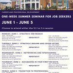#HPU2020! It's week 1 of the Summer Series for Job Seekers, hosted by HPU's Office of Career and Professional Development! Tune in today from 12:00 p.m. to 1:00 p.m. EDT, or 3:00 p.m. to 4:00 p.m. EDT. 💜 #HPU365