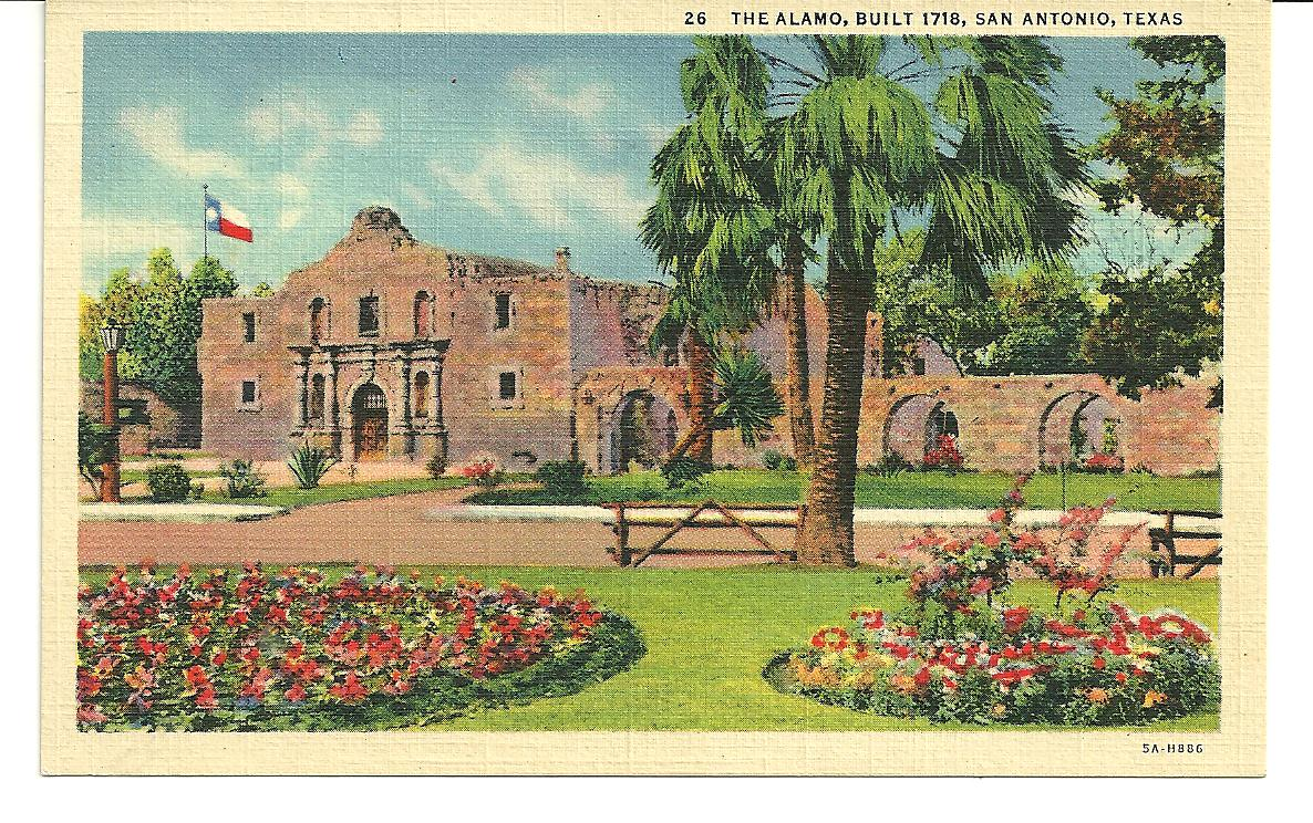 This week we're taking a look back at some #PostcardsFromTheAlamo Have you ever sent a postcard from the Alamo?