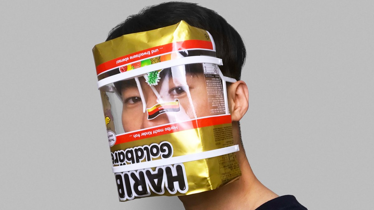 This DIY face shield gives you an excuse to stress-eat gummy