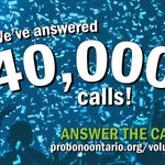Image for the Tweet beginning: 40,000 calls answered! The Hotline