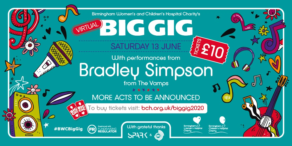 Glastonbury and Parklife may have been cancelled but you dont have to miss out on your music fix! Tune into our #BWCBigGig on Saturday 13 June for exclusive performances from @TheVampsBrad and many more! Visit our website to book your place now! orlo.uk/KBKKV