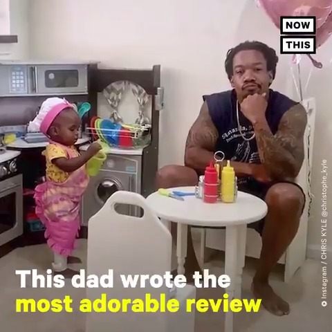 This dad reviewed his daughter's 'restaurant' — and it is too cute for words 💖