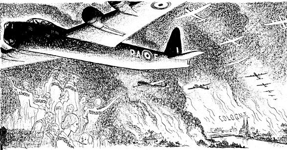 Caricature de Leslie Illingworth paru dans le Daily Mail le 1er juin 1942. https://t.co/iiJnizBKvO
