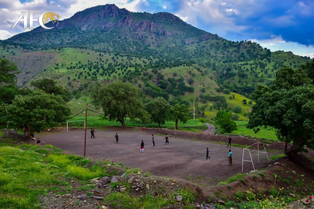 Football amidst lush landscape? Count us in! #TheBeautifulGame ⚽️❤️ 📍 Sardasht, Iran 🇮🇷