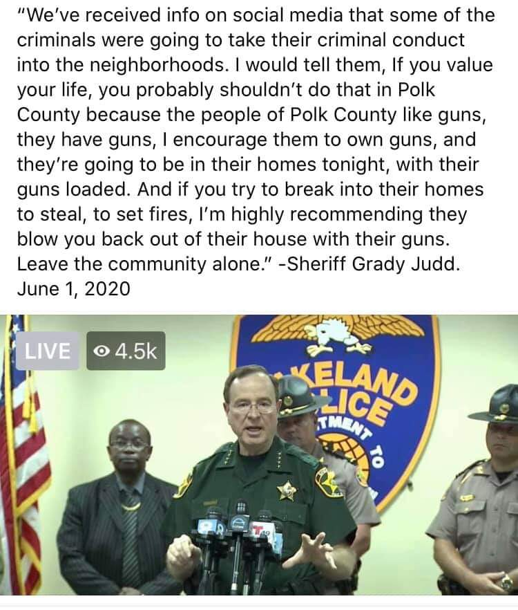 Here's an example of how things should be done.  #grady2020 #PolkCounty @PolkCoSheriff #protests2020 https://t.co/UUSksVqz9D