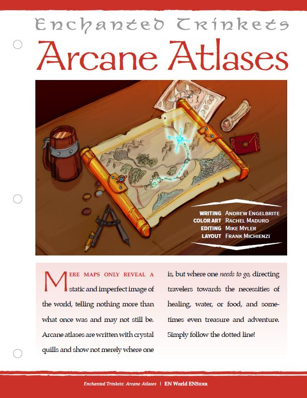 EN5ider #335 - Enchanted Trinkets: Arcane Atlases (D&D 5E)  https://t.co/ZY01cbVcos @AEngelbrite #dnd #dnd5e https://t.co/ozpMFdgHSE