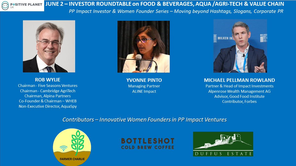 """Fellow #AngelInvestors #VentureCapital #Familyoffices pls join our Investor Roundtable Tues JUN2 @3pmLondon: """"#Food, #Beverages, #AGRITECH, Value Chain"""" (#UK, #Africa) with leading Investors, and featuring #innovative #scaleup #WomenFounders  RSVP: https://lnkd.in/dTev-iQpic.twitter.com/5vA0DYRSCY"""