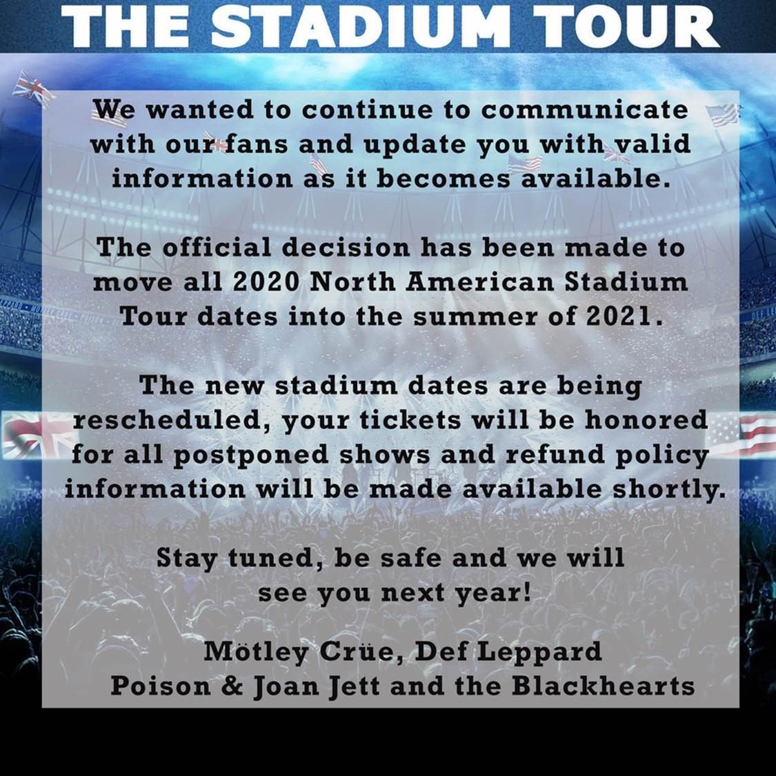 Stadium Tour Update; poisonofficial.com/news/2020-post…