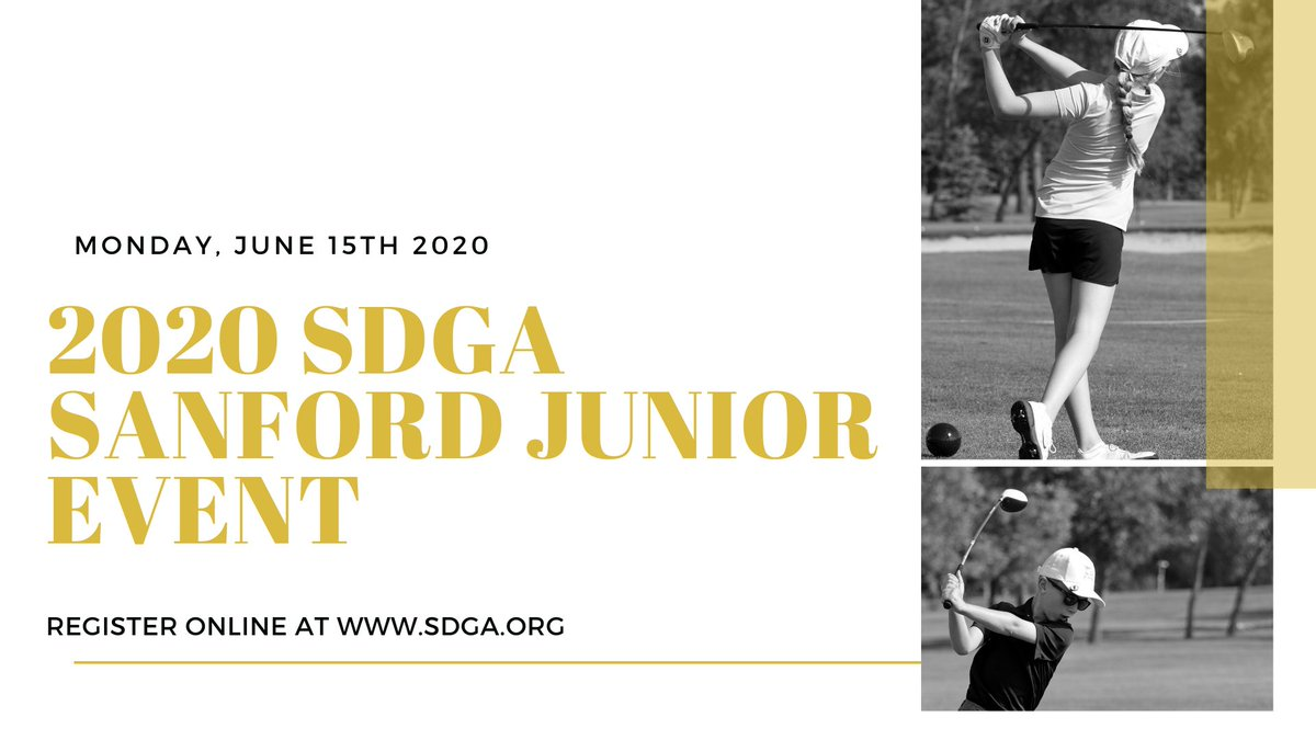 Register your junior golfer for the SDGA/Sanford Junior Tour Event at Moccasin Creek by visiting https://t.co/9FN5xeE5Na.  #golf #junior #register #tournament #online #play #compete #fun #kids #aberdeensd https://t.co/81W3HY8bfV