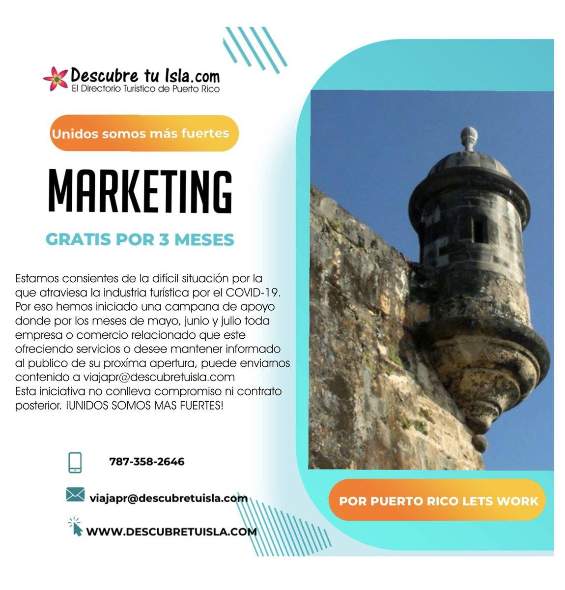 Apoyando la industria Turística ¡Descubre Tu Isla!  El Directorio Turístico de Puerto Rico #PuertoRico #DescubreTuIsla #Turismo #Tourist #Vacaciones #Travel #Traveler #Tourist #Trip