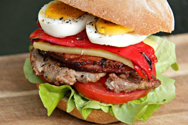 The Chivito Steak Sandwich is a Classic You Will Love  #recipe #VisitUruguay #foodie #travel