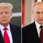 Image for the Tweet beginning: JUST IN: Trump, Putin talk