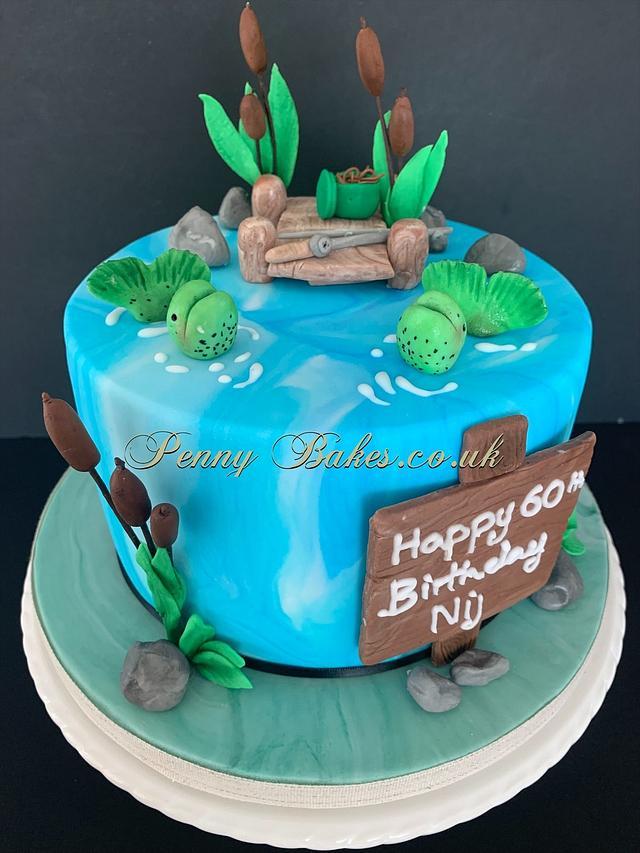 Gone Fishing!  via @CakesDecor #cakedecorating #cakes