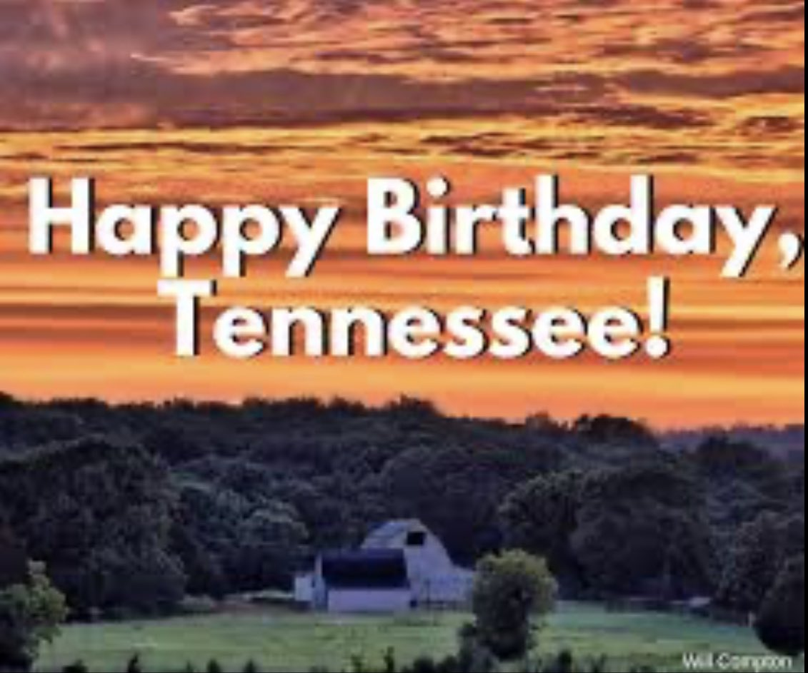 Proud to be born and raised in this great state! #224years #HappyBirthdayTennessee #TriStar #VolunteerState #TennesseeGirl https://t.co/IKWytiaPnl