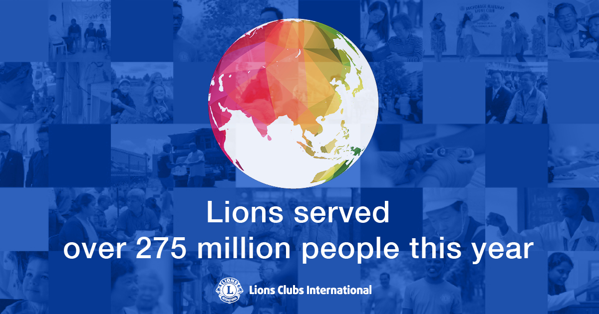 test Twitter Media - More than 275 million people served in one year! Lions around the world are celebrating this achievement of the LCI Forward goal of serving over 200 million people. Discover the incredible numbers within this humanitarian milestone. https://t.co/zOPjblKAsb