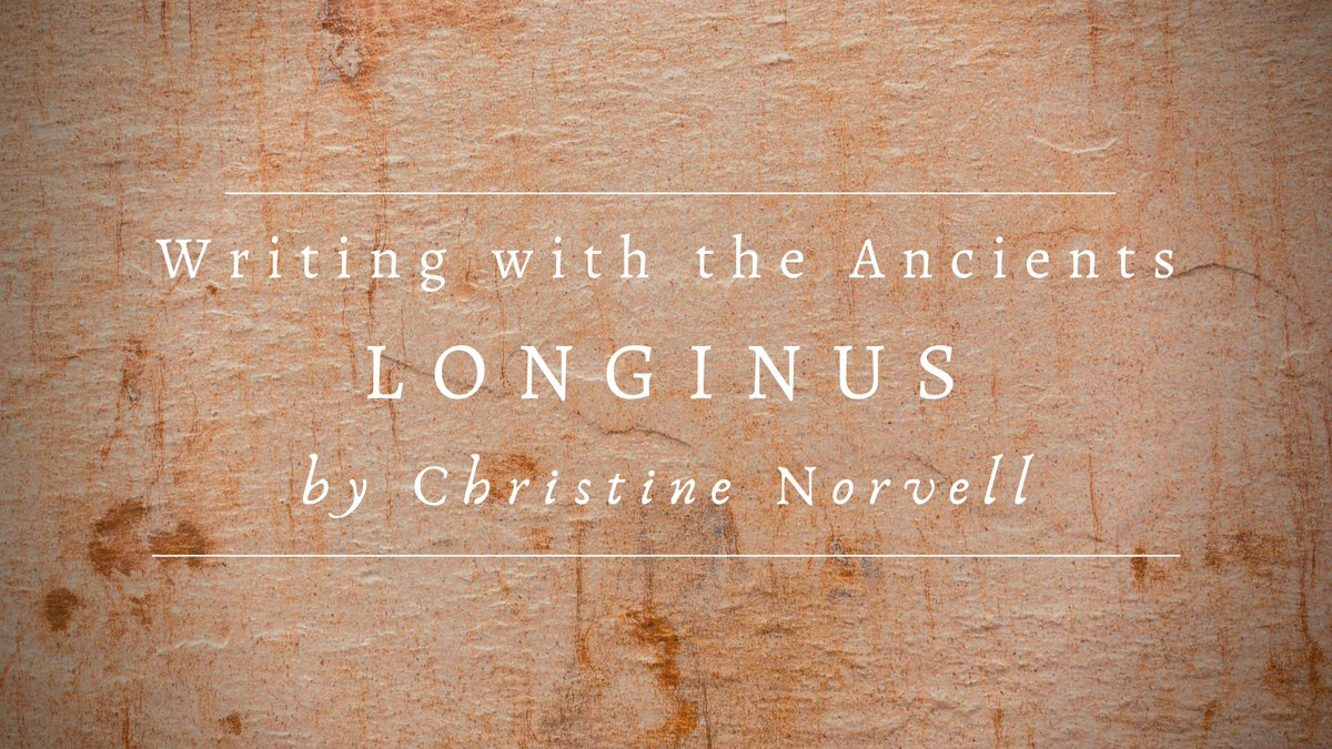 Ancient Greek style guides feature some amazing #writingtips. Motive, diction, examples, and more.  #Longinus #OntheSublime #classicaled #engchat #APLang   https:// tinyurl.com/y726e3hf    <br>http://pic.twitter.com/pHQQnY3dDe