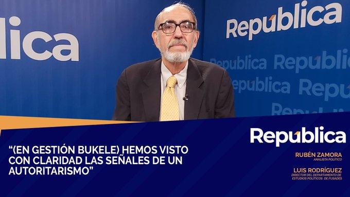 Rubén Zamora: Confrontación marca el 1er año de Nayib Bukele